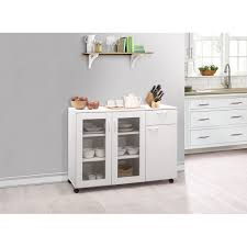 kitchen storage cabinets walmart gremlin wheeled kitchen storage sideboard buffet cabinet white wood