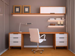 Modern Desk Ideas by Nice Modern Desk For Home Office On The Grey Floor With Purple