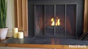 fire screen with sliding doors sku 14007 plow u0026 hearth youtube