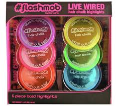 men with red fingernails and curlers in hair buy flashmob live wire hair chalk set at argos co uk your online