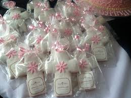 confirmation favors cross cookies in individual cellophane bags and personalized tags