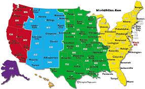 printable map of usa map usa states cities zones 60 printable with map usa states