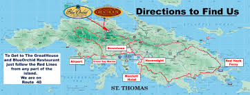 St Thomas Virgin Islands Map The Restaurant U2013 St Peter Greathouse