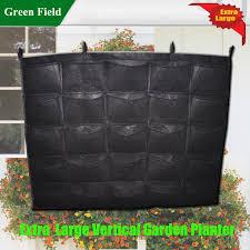 cheap sale black felt 12pcs vertical garden planter green wall 4