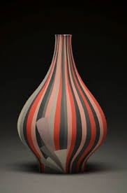 Clay Vase Painting Peter Pincus Ceramics Bottles Thesis Exhibition Contemporary