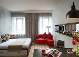ikea studio apartment design gray furry rug wooden floor pain
