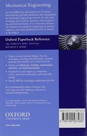 a dictionary of mechanical engineering oxford quick reference
