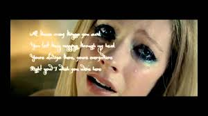 avril lavigne wish you were here lyrics hd youtube