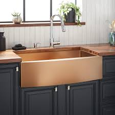 stand alone kitchen sink unit 33 atlas stainless steel farmhouse sink curved apron bronze