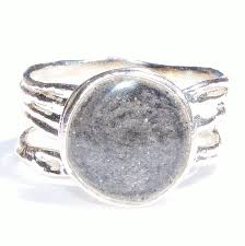 cremation jewelry rings textured band cremation ring with 10mm circle setting