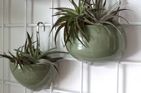 ceramic hanging wall planters set of wall planters