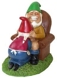 halloween garden gnomes amazon com big mouth toys happy couple garden gnomes patio