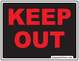 keep out signs free printable and downloadable