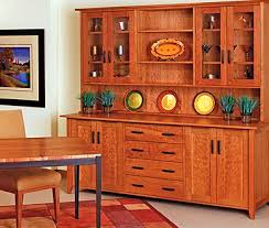 Buffet With Hutch Furniture Mckinnon Furniture Shaker Large Buffet And Hutch
