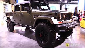 jeep chief truck jeep crew chief 715 concept exterior and interior walkaround