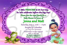 baby shower invitation princess frog theme
