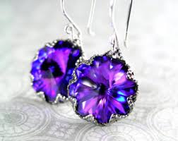 purple earrings purple earrings etsy