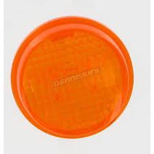 k u0026 s amber turn signal lens 25 1250 cruiser motorcycle dennis