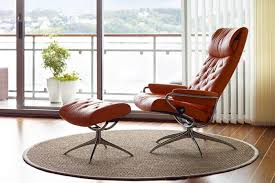 reclining back chair with ottoman stressless metro high back recliner with ottoman by ekornes