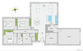 plan plain pied 4 chambres plan plain pied 5 chambres 8 maison lzzyco concept moderne plan