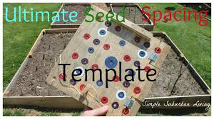 square foot square foot garden planting template youtube