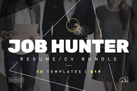 Job Res by Job Hunter Resume Cv Bundle Resume Templates Creative Market