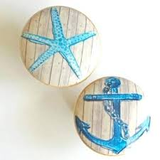 themed knobs drawer pulls stylish nautical knobs and knob blue starfish
