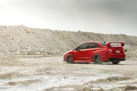red subaru sedan matte red subaru wrx sti adv06 m v2 cs adv 1 wheels