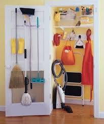 cleaning closet organize your broom closet real simple