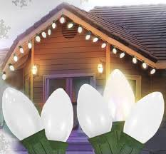 25 ceramic style opaque white led retro style c7 lights