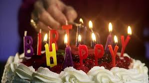 burning candles on a birthday cake stock footage video 2505410