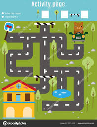 Home Design Game Help by Activity Page For Kids Educational Game Maze And Find Objects