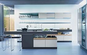 Luxury Modern Kitchen Designs Grey Island And Metal Chairs For Luxury Contemporary Kitchen