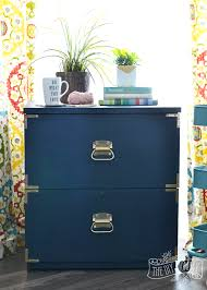 Chalk Paint On Metal Filing Cabinet A Campaign Dresser Inspired Filing Cabinet Makeover Win The