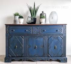 blue painted buffet makeover blue painted furniture furniture
