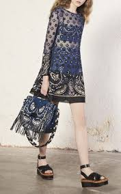 point d u0027esprit bandana embroidery mini dress by red moda operandi