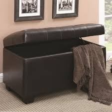 Leather Cowhide Fabric Ottoman Attractive Fabric Ottoman With Storage Breathtaking