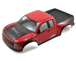 Ford Raptor Model Truck - pro line true scale ford f 150 raptor svt short course body red