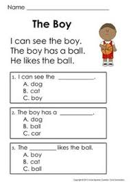 free reading comprehension for beginning readers multiple choice