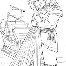 princess anna kristoff frozen coloring pages place