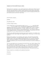 Example Of Letter Of Inquiry In Business by Sample Non Permissible Purpose Letter