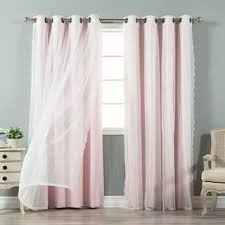 Rose Colored Curtains Pink Curtains U0026 Drapes Shop The Best Deals For Nov 2017