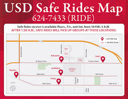 Usd Campus Map Safe Rides Usd