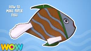 how to make paper fish easy paper crafts origami hanging fish