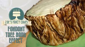 fondant tree bark effect how to tutorial zoes fancy cakes youtube