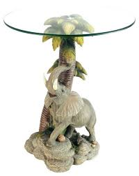 Elephant Table Lamp Elephant Table Lamp Uk Glass Top End Tropical Side Tables