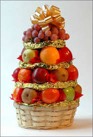 christmas fruit baskets christmas fruit tree
