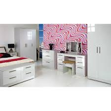 White High Gloss Bedroom Furniture Sets Kensington 2ft6 2 Drawer Wardrobe