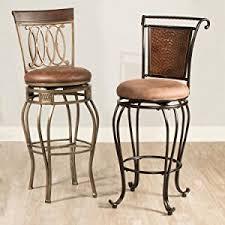 amazon com hillsdale granada swivel counter stool brown kitchen