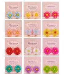 clip on earrings for kids 12 pairs lot of vintage flowers kids clip on earrings